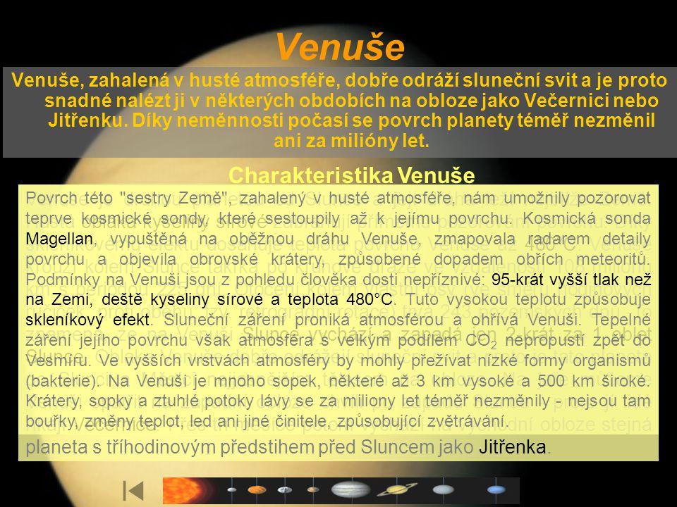 Charakteristika Venuše