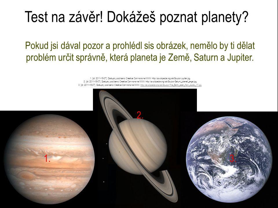 Test na závěr! Dokážeš poznat planety