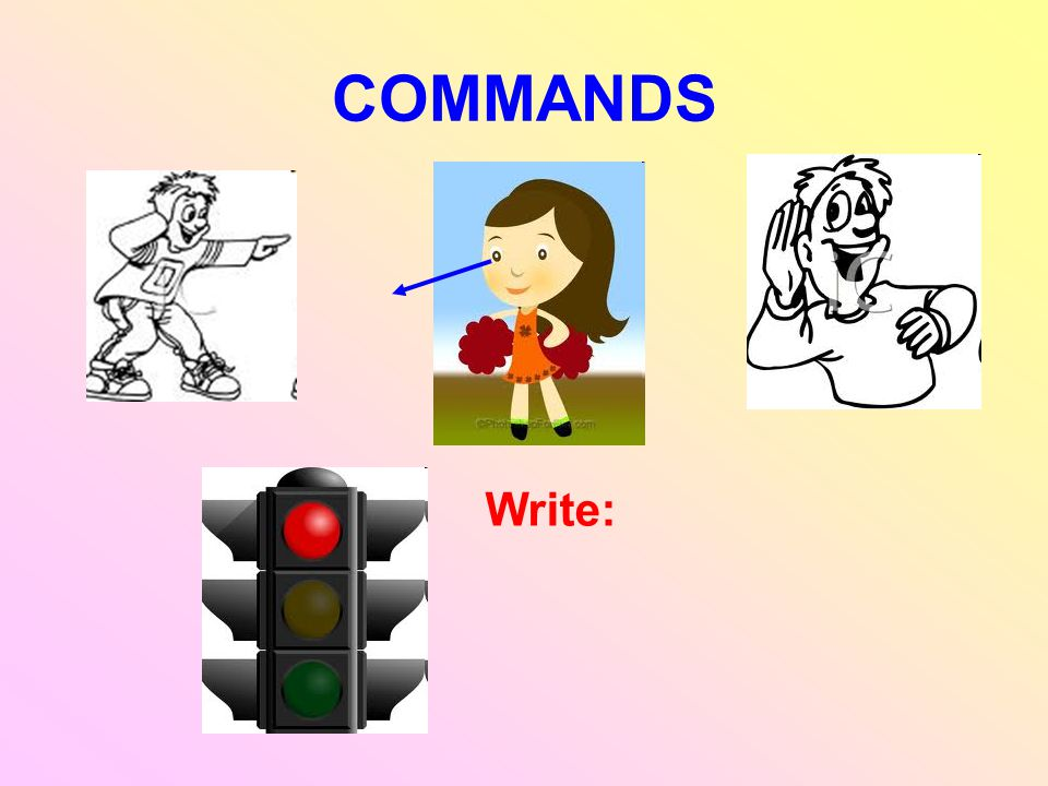 COMMANDS Write: