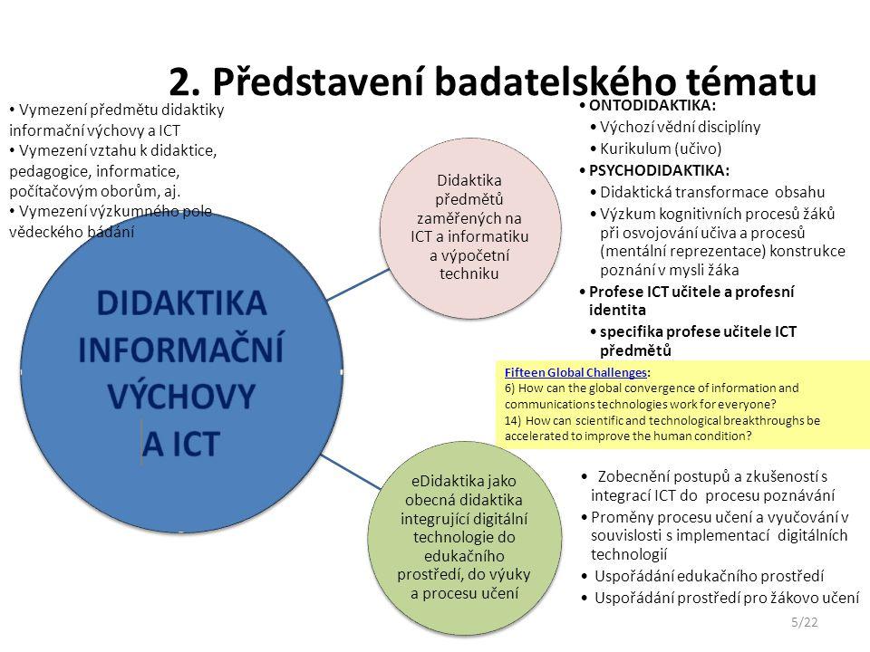 2. Představení badatelského tématu
