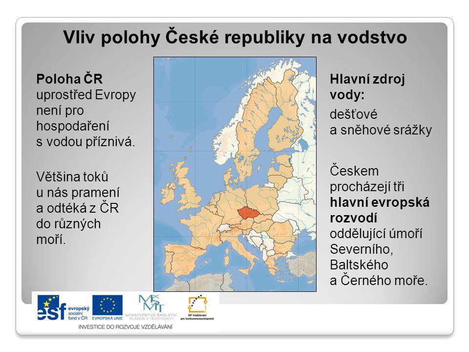 Vliv polohy České republiky na vodstvo