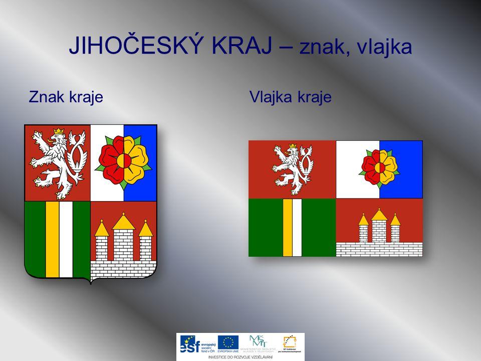 JIHOČESKÝ KRAJ – znak, vlajka