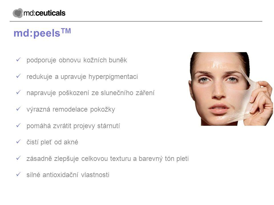 md:peelsTM podporuje obnovu kožních buněk