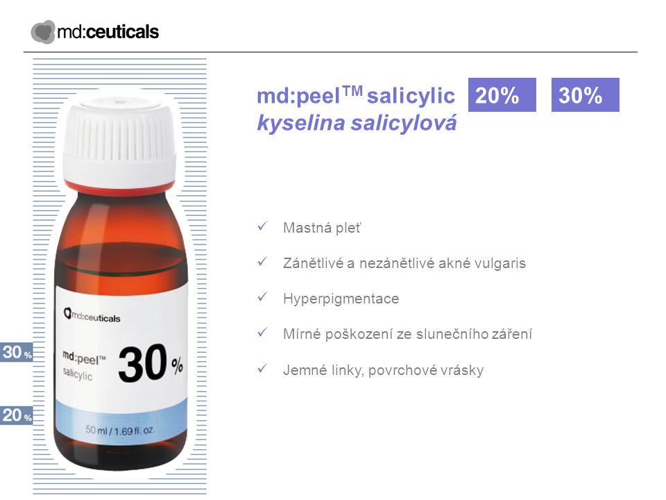 md:peelTM salicylic kyselina salicylová 20% 30% Mastná pleť