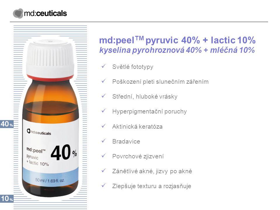 md:peelTM pyruvic 40% + lactic 10%
