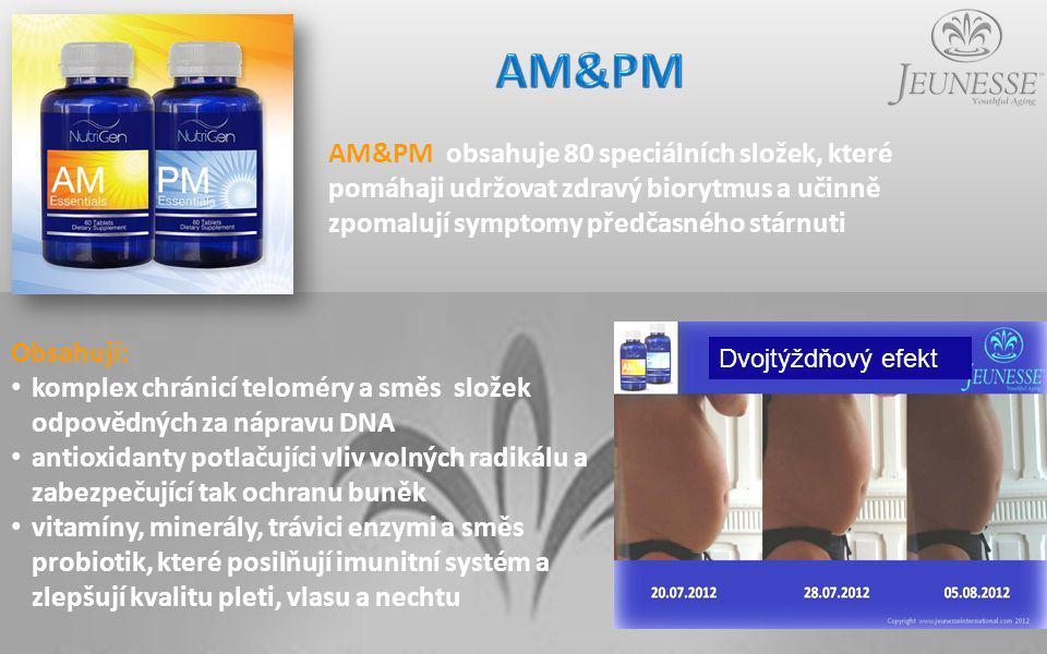 AM&PM AM&PM obsahuje 80 speciálních složek, které pomáhaji udržovat zdravý biorytmus a učinně zpomalují symptomy předčasného stárnuti.