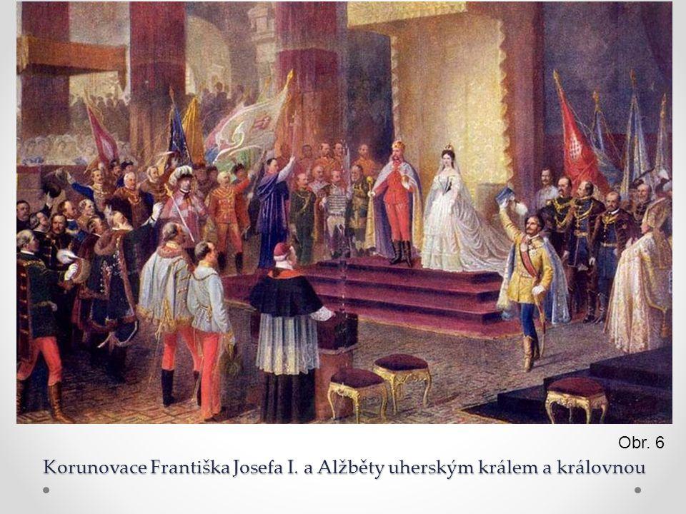 Korunovace Františka Josefa I. a Alžběty uherským králem a královnou