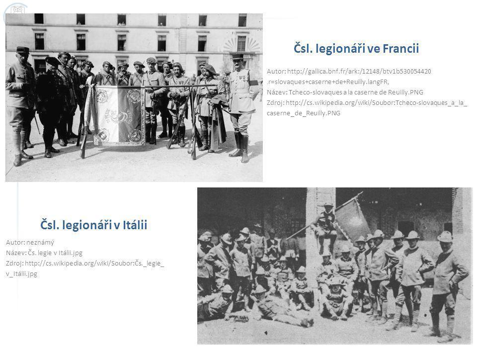Čsl. legionáři ve Francii