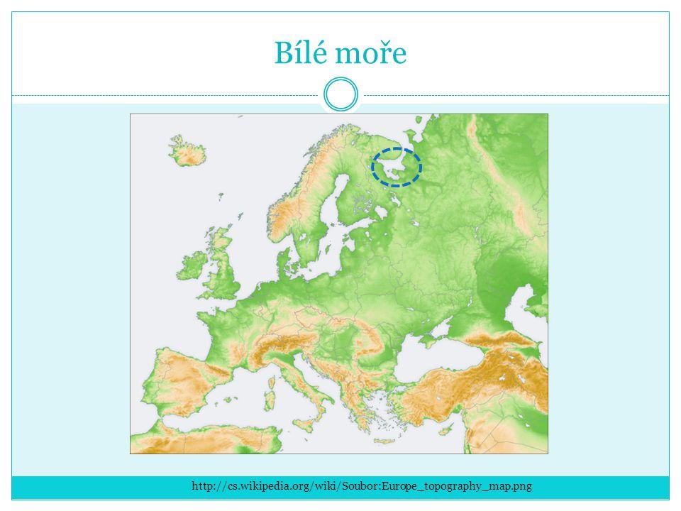 Bílé moře http://cs.wikipedia.org/wiki/Soubor:Europe_topography_map.png