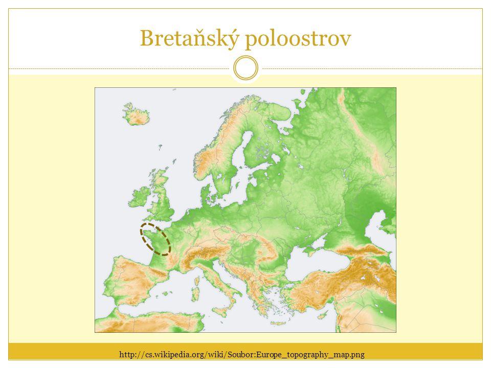 Bretaňský poloostrov http://cs.wikipedia.org/wiki/Soubor:Europe_topography_map.png