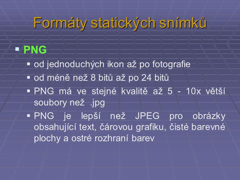 Formáty statických snímků