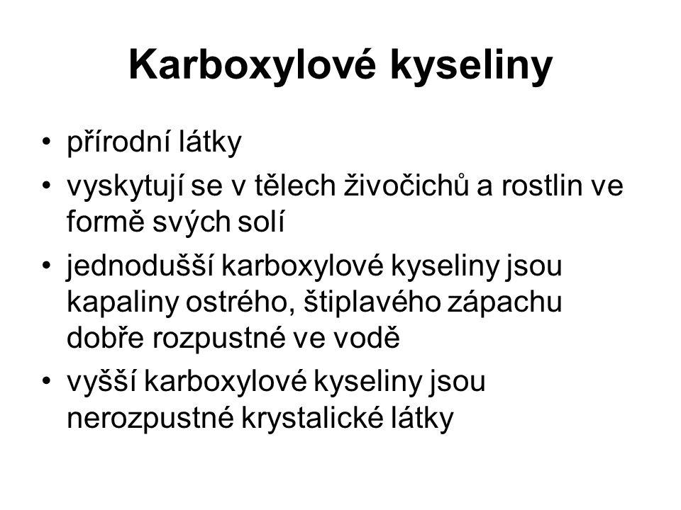 Karboxylové kyseliny přírodní látky