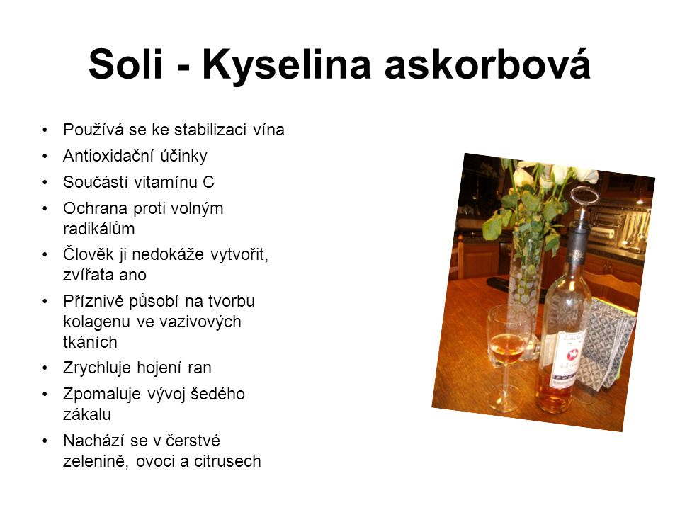 Soli - Kyselina askorbová