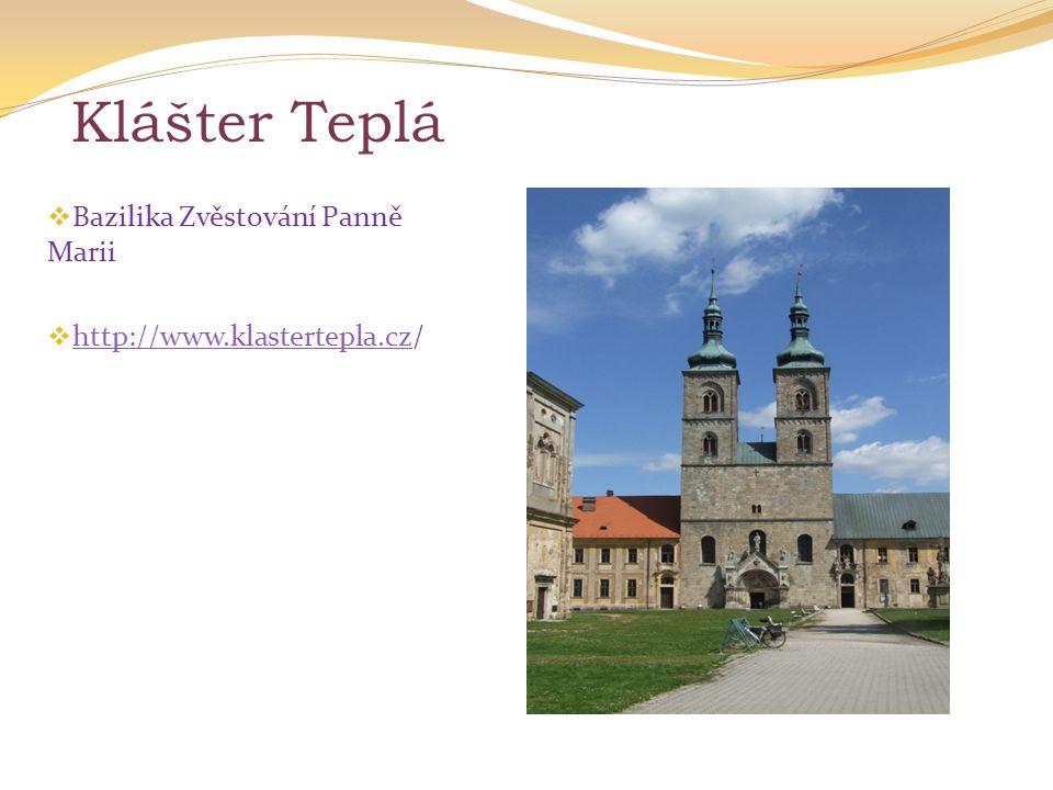 Klášter Teplá Bazilika Zvěstování Panně Marii