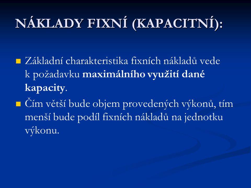 NÁKLADY FIXNÍ (KAPACITNÍ):
