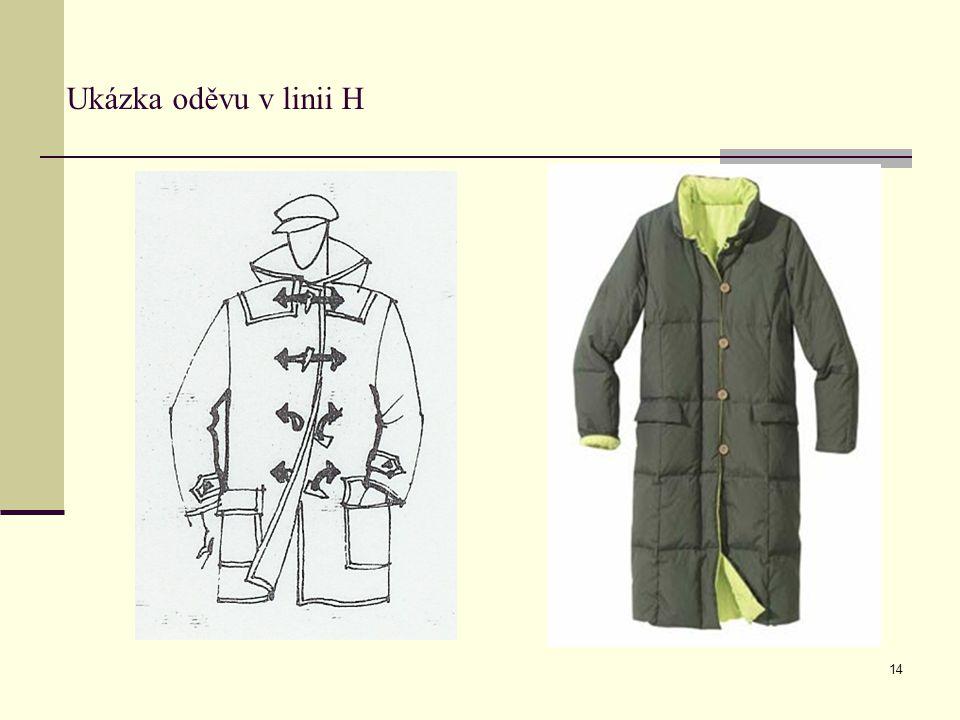 Ukázka oděvu v linii H