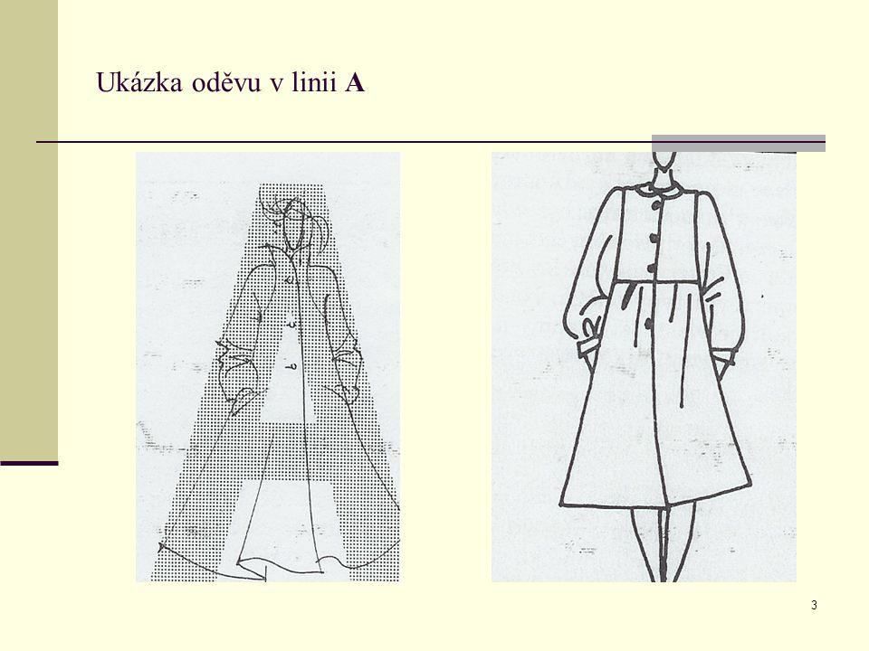 Ukázka oděvu v linii A