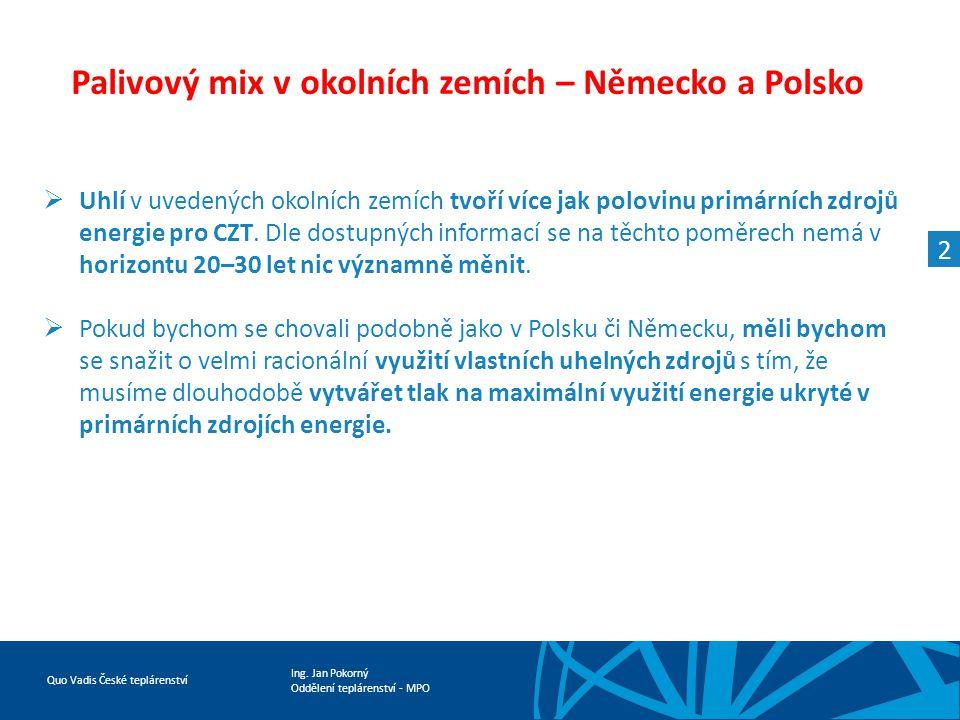 Palivový mix v okolních zemích – Německo a Polsko
