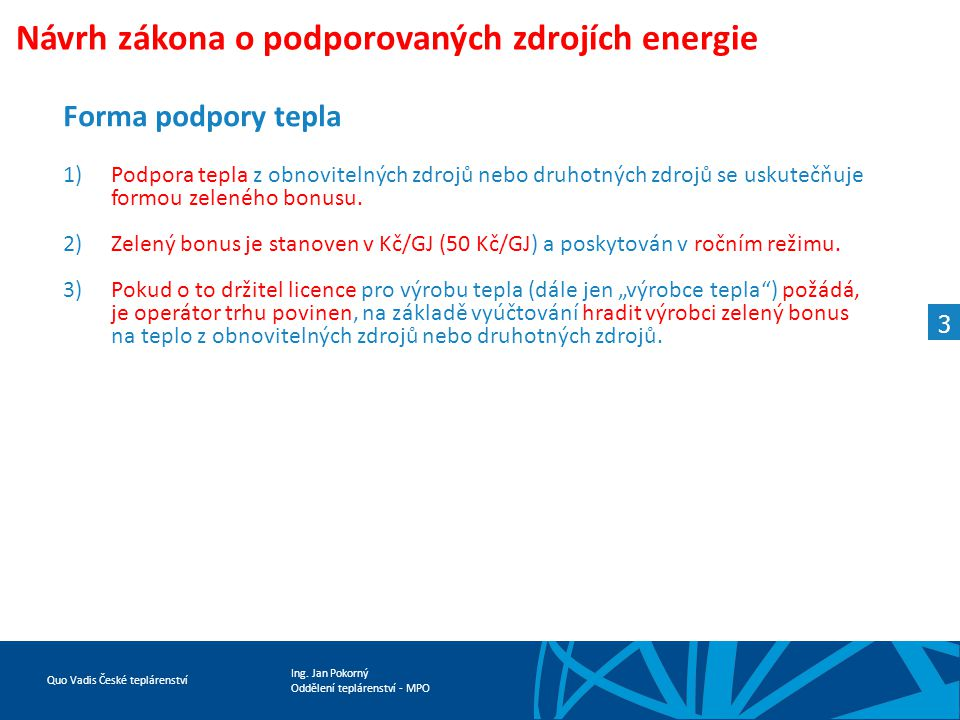Návrh zákona o podporovaných zdrojích energie