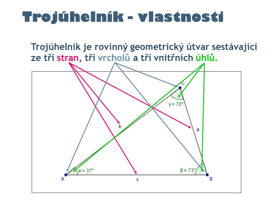Trojúhelník - vlastnosti