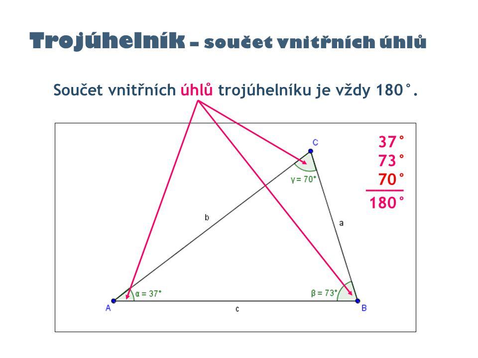 Trojúhelník – součet vnitřních úhlů