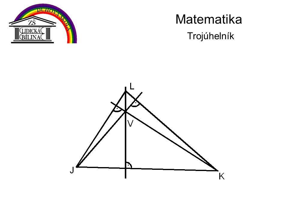 Matematika Trojúhelník