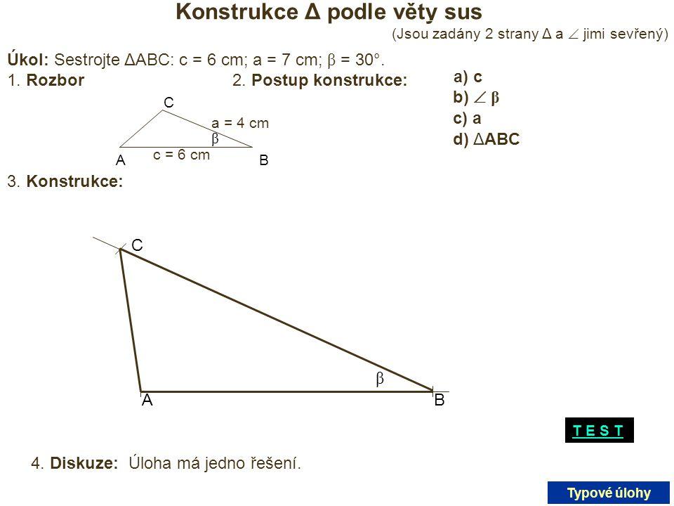 Konstrukce Δ podle věty sus