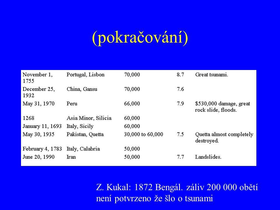 (pokračování) Z. Kukal: 1872 Bengál. záliv 200 000 obětí