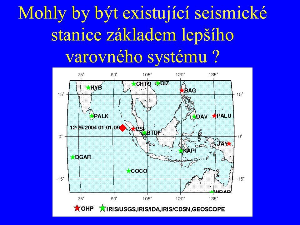 Mohly by být existující seismické stanice základem lepšího varovného systému