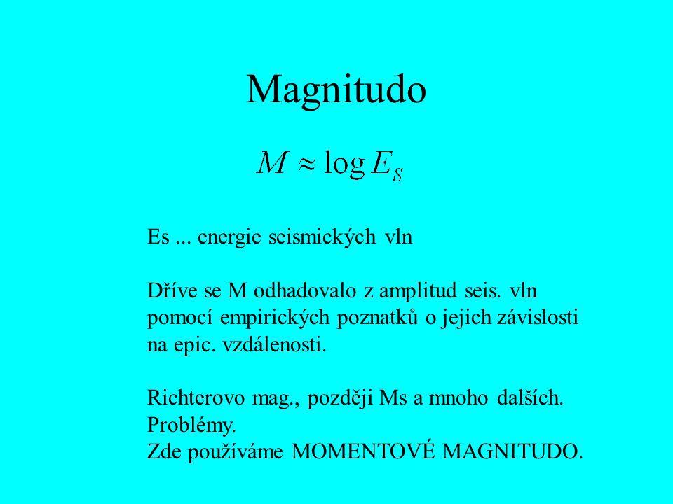 Magnitudo Es ... energie seismických vln