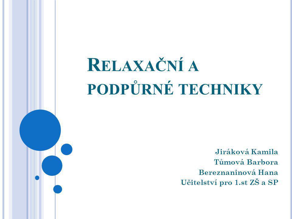 Relaxační a podpůrné techniky
