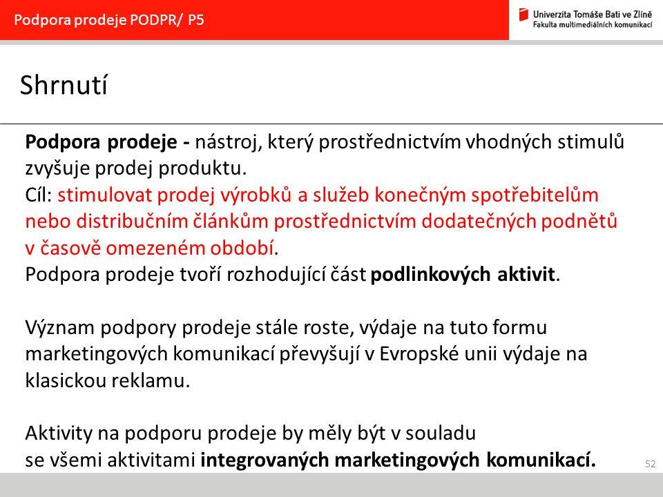 Podpora prodeje PODPR/ P5