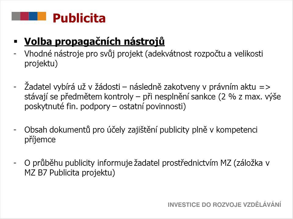 Publicita Volba propagačních nástrojů