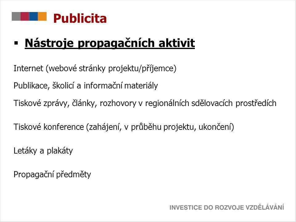 Publicita Nástroje propagačních aktivit
