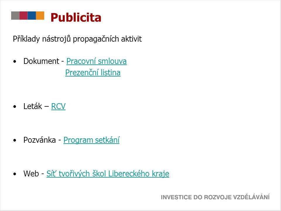 Publicita Příklady nástrojů propagačních aktivit