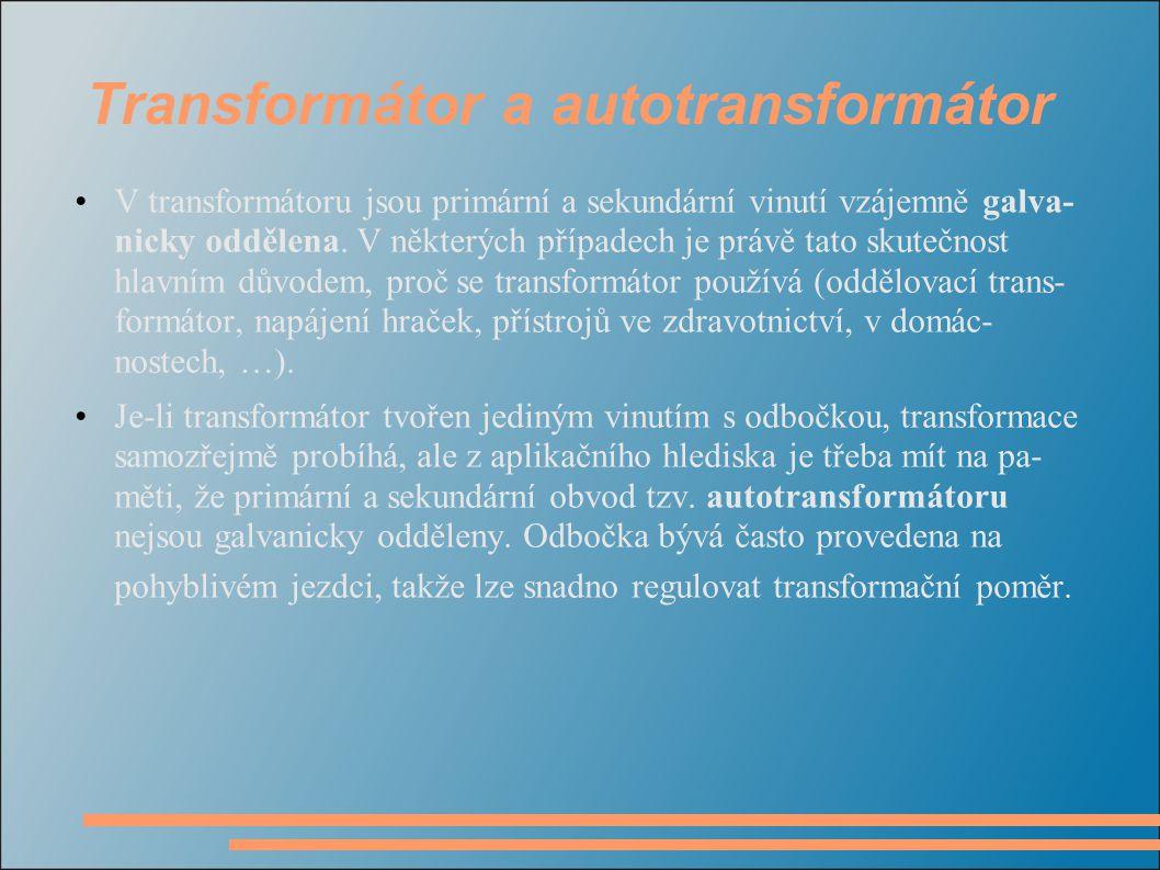 Transformátor a autotransformátor