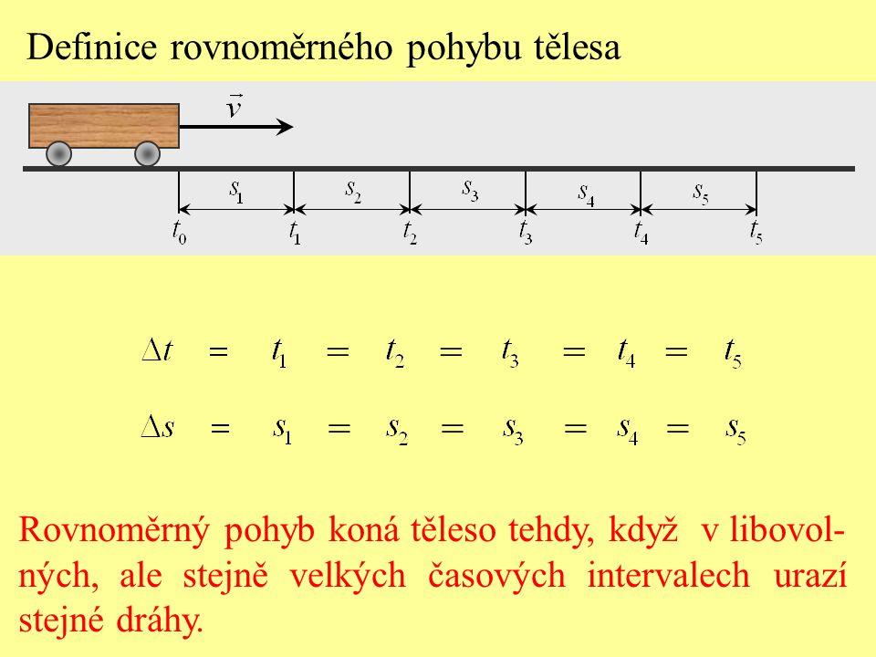 = = = = = = = = Definice rovnoměrného pohybu tělesa
