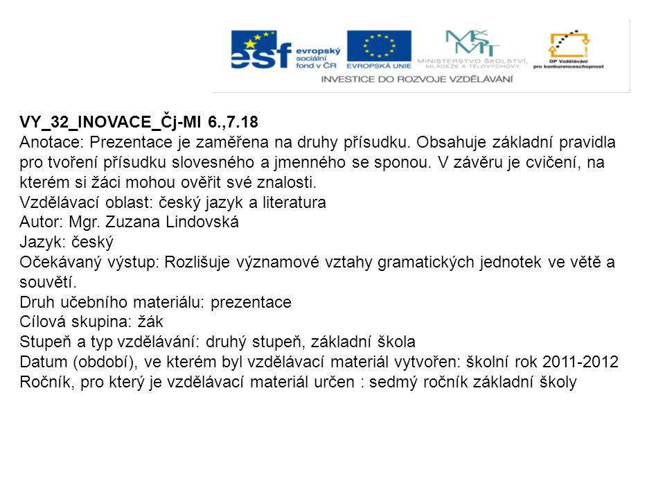 VY_32_INOVACE_Čj-Ml 6.,7.18