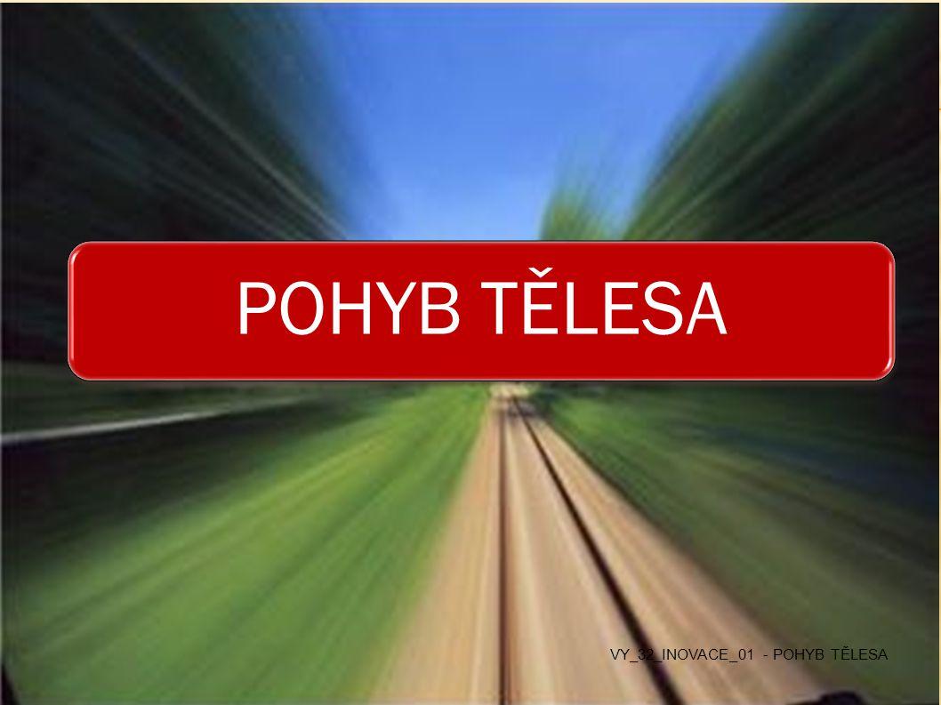 POHYB TĚLESA VY_32_INOVACE_01 - POHYB TĚLESA