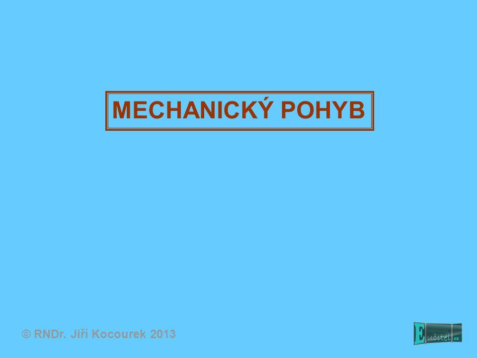 MECHANICKÝ POHYB © RNDr. Jiří Kocourek 2013