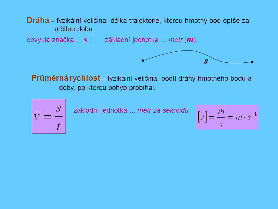 Dráha – fyzikální veličina; délka trajektorie, kterou hmotný bod opíše za určitou dobu.