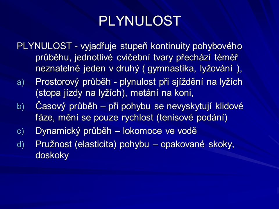 PLYNULOST