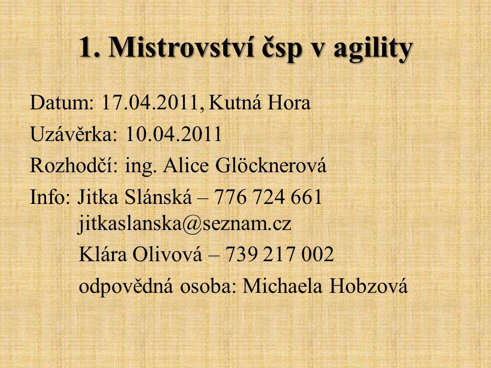 1. Mistrovství čsp v agility