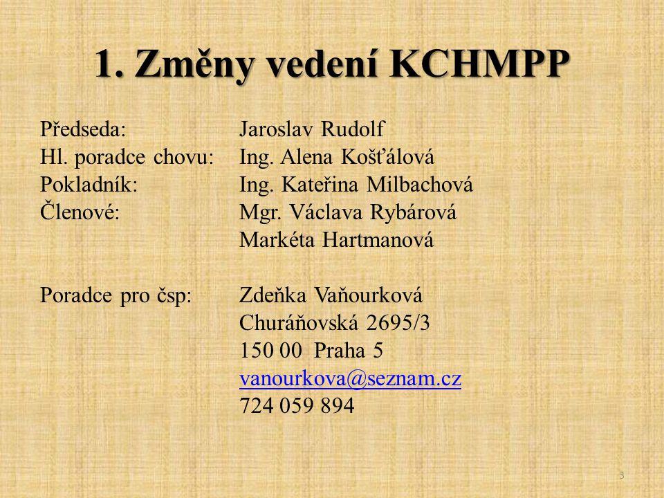 1. Změny vedení KCHMPP