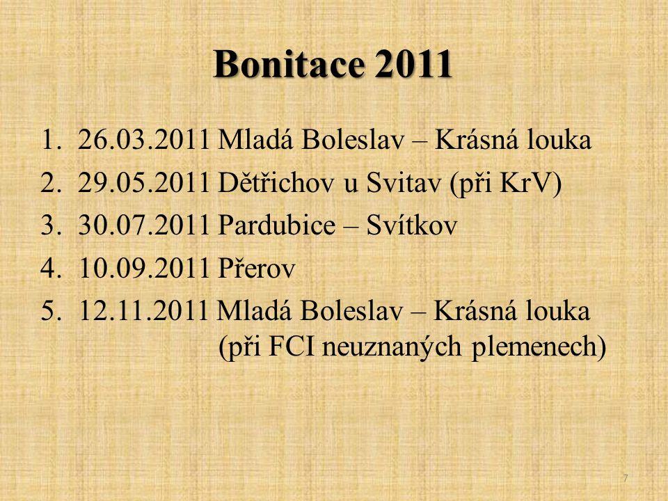 Bonitace 2011 26.03.2011 Mladá Boleslav – Krásná louka