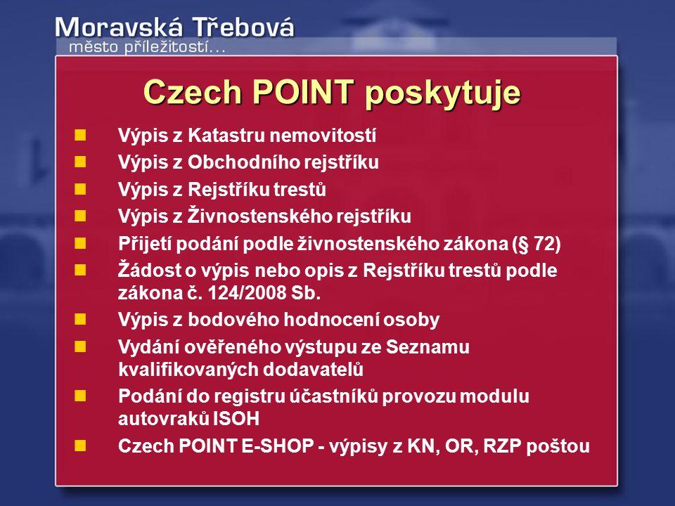 Czech POINT poskytuje Výpis z Katastru nemovitostí