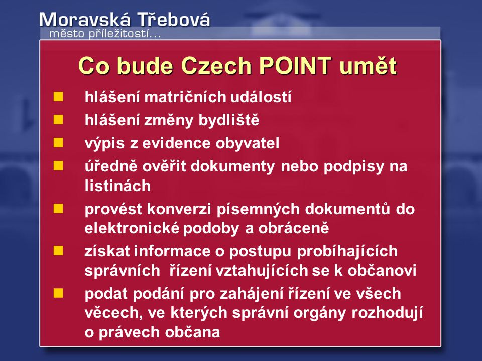 Co bude Czech POINT umět