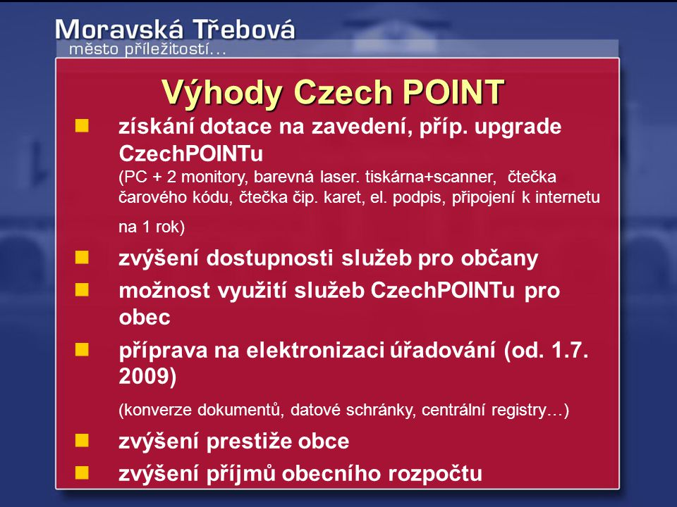 Výhody Czech POINT