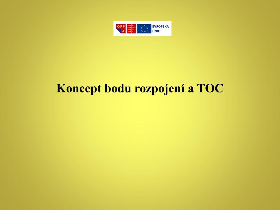 Koncept bodu rozpojení a TOC