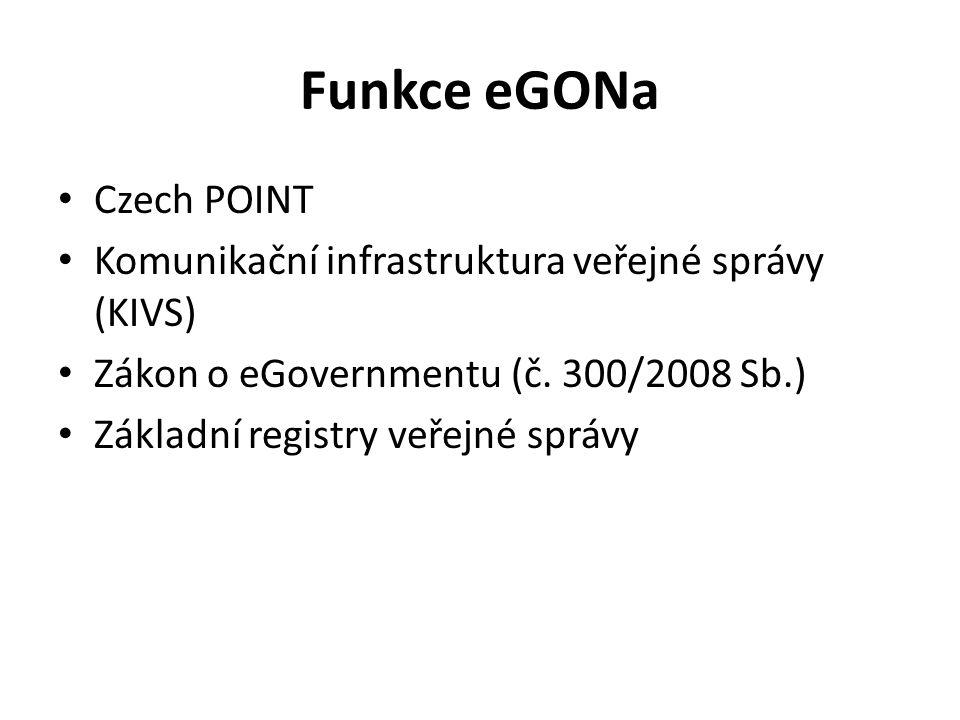 Funkce eGONa Czech POINT
